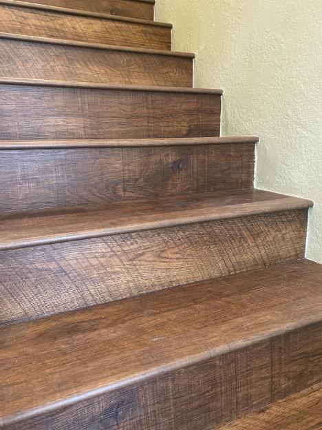 Stairs wood floor